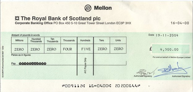 British cheque example.